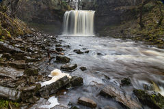 Sgwd yr Eira waterfall. On the river Afon Hepste South Wales, UK Royalty Free Stock Image