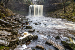 Sgwd yr Eira waterfall. On the river Afon Hepste South Wales, UK Stock Images