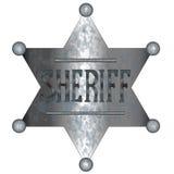 Shérif Badge Photographie stock libre de droits