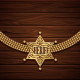 Shérif Badge Design Image stock
