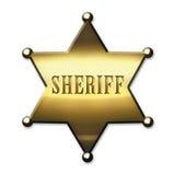 Shérif d'or Badge illustration libre de droits