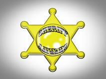 shérif d'insigne Photos libres de droits