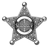 Shérif Star Badge de cowboy Photos stock