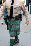 Shérif sur le défilé de jour de rue Patrick Image stock