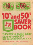 SH Trading Stamps Saver Book. Circa 1950s royalty free illustration