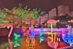 Sha Tin Festive Lighting à Hong Kong 2017 photos libres de droits
