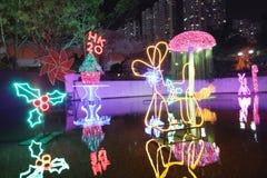 Sha Tin Festive Lighting à Hong Kong 2017 image stock
