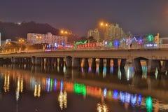 Sha Tin Festive Lighting à la rivière Image libre de droits
