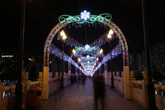 Sha Tin Festive Lighting 2016 immagini stock libere da diritti