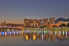 Sha Tin Festive Lighting HK fotos de stock royalty free