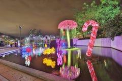 Sha Tin Festive Lighting a Hong Kong 2017 Immagini Stock