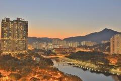Sha Tin, Hong Kong. The Sha Tin at Hong Kong winter stock images