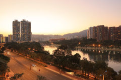 Sha Tin, Hong Kong. The Sha Tin at Hong Kong winter stock photo
