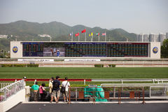 Sha Tin Racecourse : BMW Champions Mile Raceday Royalty Free Stock Photos
