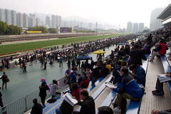 Sha Tin Racecourse, Hong Kong Stock Images
