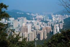 Sha Tin Town de Hong Kong Fotografia de Stock Royalty Free