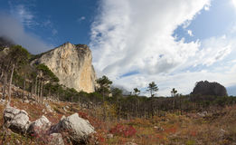 Shaan Kaya Mountain, Crimea Stock Photo