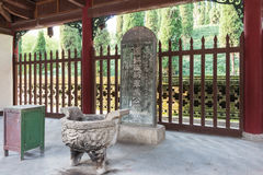 SHAANXI, CHINA - NOV 3 2014: Ma Chao Tomb, Mianxian County, Shaa Royalty Free Stock Photo