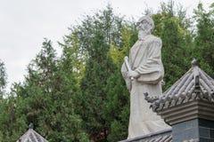 SHAANXI, CHINA - OCT 13 2014: Statue of Zhang Sanfeng at Jintai Stock Images