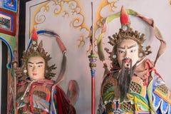 SHAANXI, CHINA - OCT 21 2014: Statues of Zhang Bao,Liao Hua at W Stock Photo