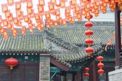 SHAANXI CHINY, Jun, - 03 2015: Duchenghuang świątynia (miasto bóg Templ Zdjęcia Stock