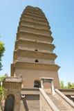 SHAANXI CHINY, Jun, - 04 2015: Mała Dzika Gęsia pagoda (UNESCO Wor Zdjęcie Stock