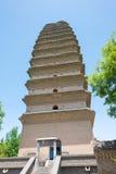 SHAANXI CHINY, Jun, - 04 2015: Mała Dzika Gęsia pagoda (UNESCO Wor Obrazy Royalty Free