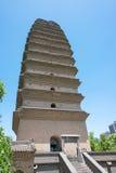 SHAANXI CHINY, Jun, - 04 2015: Mała Dzika Gęsia pagoda (UNESCO Wor Obrazy Stock