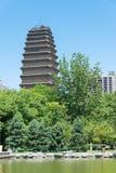 SHAANXI CHINY, Jun, - 04 2015: Mała Dzika Gęsia pagoda (UNESCO Wor Fotografia Royalty Free