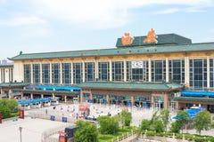 SHAANXI CHINY, Jun, - 06 2015: Xi'an stacja kolejowa w Xi'an, Sh Obrazy Stock