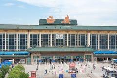 SHAANXI CHINY, Jun, - 06 2015: Xi'an stacja kolejowa w Xi'an, Sh Zdjęcie Royalty Free
