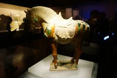 Shaanxi History Museum Horse Sculpture stock photo