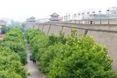 SHAANXI KINA - Juni 01 2015: Stadsvägg av Xi'an en berömda Histo Royaltyfria Foton
