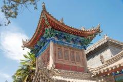 SHAANXI KINA - Juni 05 2015: Wanshou Banxian slott ett berömt H Arkivbild
