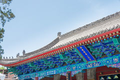SHAANXI KINA - Juni 05 2015: Wanshou Banxian slott ett berömt H Arkivbilder