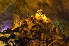 Shaanxi Province Moon Cave Hill County Royalty Free Stock Photos