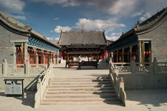 Shaanxi subcontinent Buddhist temple of scenery Stock Photography