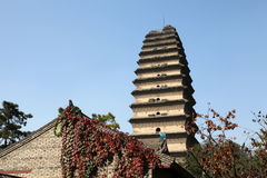 Shaanxi XI 'en liten lös gåspagod Arkivfoto