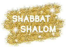 Shabat shalom golden background Stock Images