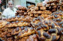 Shabbat的鸡蛋面包面包 免版税库存照片