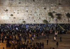 Shabbat bei Kotel (Klagemauer) jerusalem israel Stockbilder