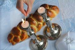 Shabbat helgdagsafton Arkivbilder