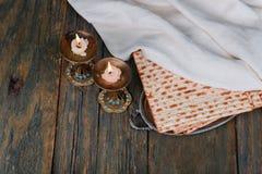 Shabbat Shalom - Traditional Jewish Sabbath matzah and wine ritual. Shabbat Shalom matzah and wine traditional Jewish Sabbath ritual Royalty Free Stock Image