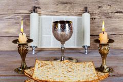 Shabbat Shalom - Traditional Jewish Sabbath matzah and wine ritual. Shabbat Shalom matzah and wine traditional Jewish Sabbath ritual Royalty Free Stock Image