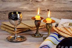 Shabbat Shalom - Traditional Jewish Sabbath ritual. Shabbat Shalom - Traditional Jewish Sabbath matzah, and wine. ritual Royalty Free Stock Photo
