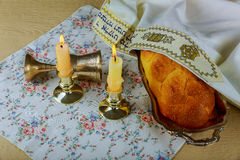 Shabbat Shalom Traditional Jewish Sabbath ritual Royalty Free Stock Image