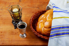 Shabbat Shalom Traditional Jewish Sabbath ritual Stock Image