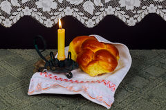 Shabbat Shalom - Traditional Jewish Sabbath ritual Stock Photo