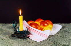 Shabbat Shalom - Traditional Jewish Sabbath ritual Royalty Free Stock Photos