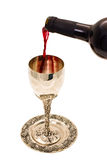 Shabbats wine in the cup Royalty Free Stock Photos
